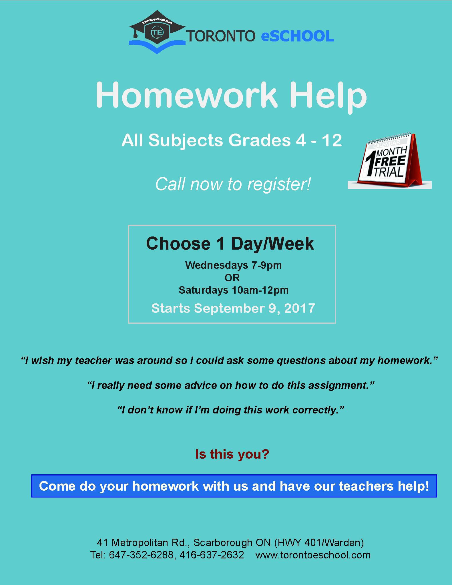 Homwork Help